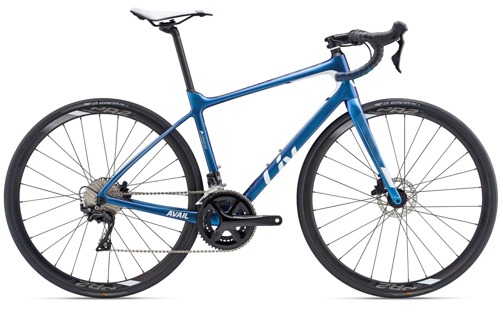 2019 Liv Avail Advanced 2 Carbon Womens Road bike in Blue